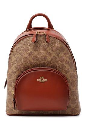 Женский рюкзак carrie small COACH коричневого цвета, арт. 1029 | Фото 1