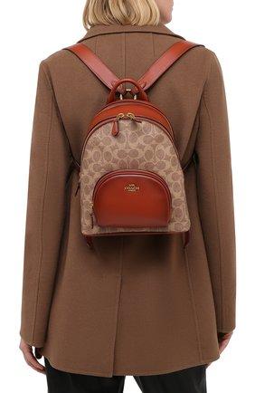 Женский рюкзак carrie small COACH коричневого цвета, арт. 1029 | Фото 2
