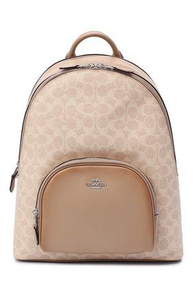Женский рюкзак carrie COACH светло-бежевого цвета, арт. 1028 | Фото 1