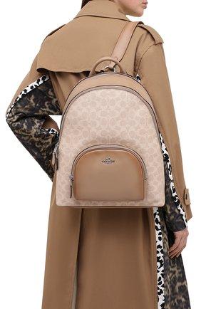 Женский рюкзак carrie COACH светло-бежевого цвета, арт. 1028 | Фото 2