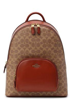 Женский рюкзак carrie COACH коричневого цвета, арт. 1028 | Фото 1