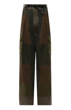 Женские хлопковые брюки TOM FORD хаки цвета, арт. PAW362-FAX775 | Фото 1