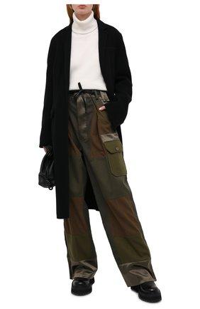 Женские хлопковые брюки TOM FORD хаки цвета, арт. PAW362-FAX775 | Фото 2