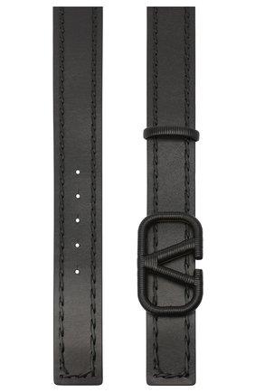 Женский кожаный ремень  VALENTINO черного цвета, арт. UW0T0S11/HEW | Фото 2 (Материал: Кожа)