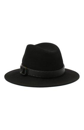 Женская фетровая шляпа VALENTINO черного цвета, арт. UW0HAA53/DZT | Фото 1