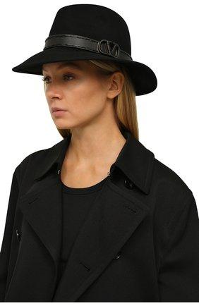Женская фетровая шляпа VALENTINO черного цвета, арт. UW0HAA53/DZT | Фото 2