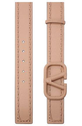 Женский кожаный ремень valentino garavani VALENTINO бежевого цвета, арт. UW0T0S11/HEW   Фото 2