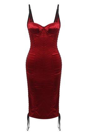 Женское платье DOLCE & GABBANA красного цвета, арт. F6G1MT/FURAD   Фото 1