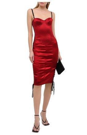 Женское платье DOLCE & GABBANA красного цвета, арт. F6G1MT/FURAD   Фото 2