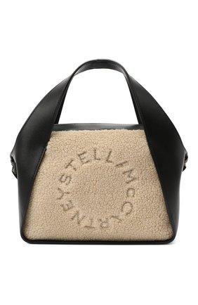 Женская сумка logo STELLA MCCARTNEY черного цвета, арт. 700139/W8731 | Фото 1