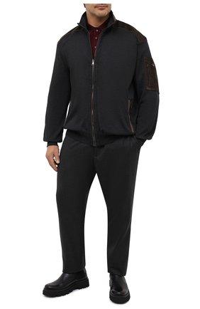 Мужская кардиган PAUL&SHARK серого цвета, арт. I20P1269/HV0/3XL-6XL | Фото 2