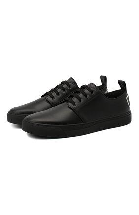 Мужские кожаные кеды VALENTINO черного цвета, арт. UY0S0D93/WMX | Фото 1 (Подошва: Массивная; Материал внутренний: Натуральная кожа)