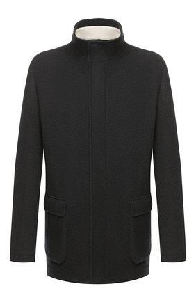 Мужская кашемировая куртка LORO PIANA темно-зеленого цвета, арт. FAL2231 | Фото 1 (Материал внешний: Шерсть; Рукава: Длинные; Мужское Кросс-КТ: Верхняя одежда, шерсть и кашемир; Стили: Кэжуэл; Кросс-КТ: Куртка)