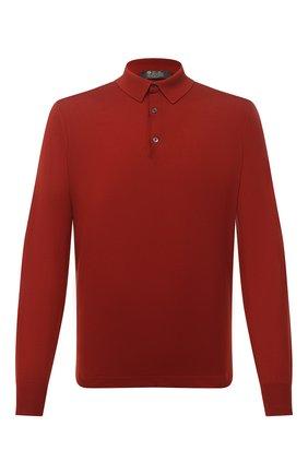 Мужское шерстяное поло LORO PIANA красного цвета, арт. FAF0951 | Фото 1