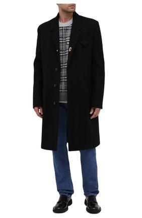 Мужской хлопковый свитшот BURBERRY серого цвета, арт. 8033045   Фото 2