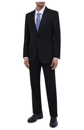 Мужские кожаные дерби ZILLI темно-синего цвета, арт. MDS-A071/008 | Фото 2