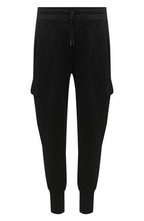 Мужской хлопковые джоггеры DOLCE & GABBANA черного цвета, арт. GW7WAZ/G7XSH | Фото 1