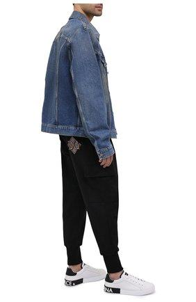 Мужской хлопковые джоггеры DOLCE & GABBANA черного цвета, арт. GW7WAZ/G7XSH | Фото 2