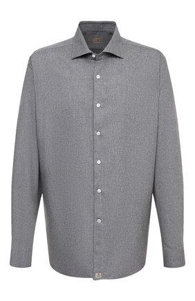 Мужская хлопковая рубашка SONRISA серого цвета, арт. IL7/L1080/47-51 | Фото 1