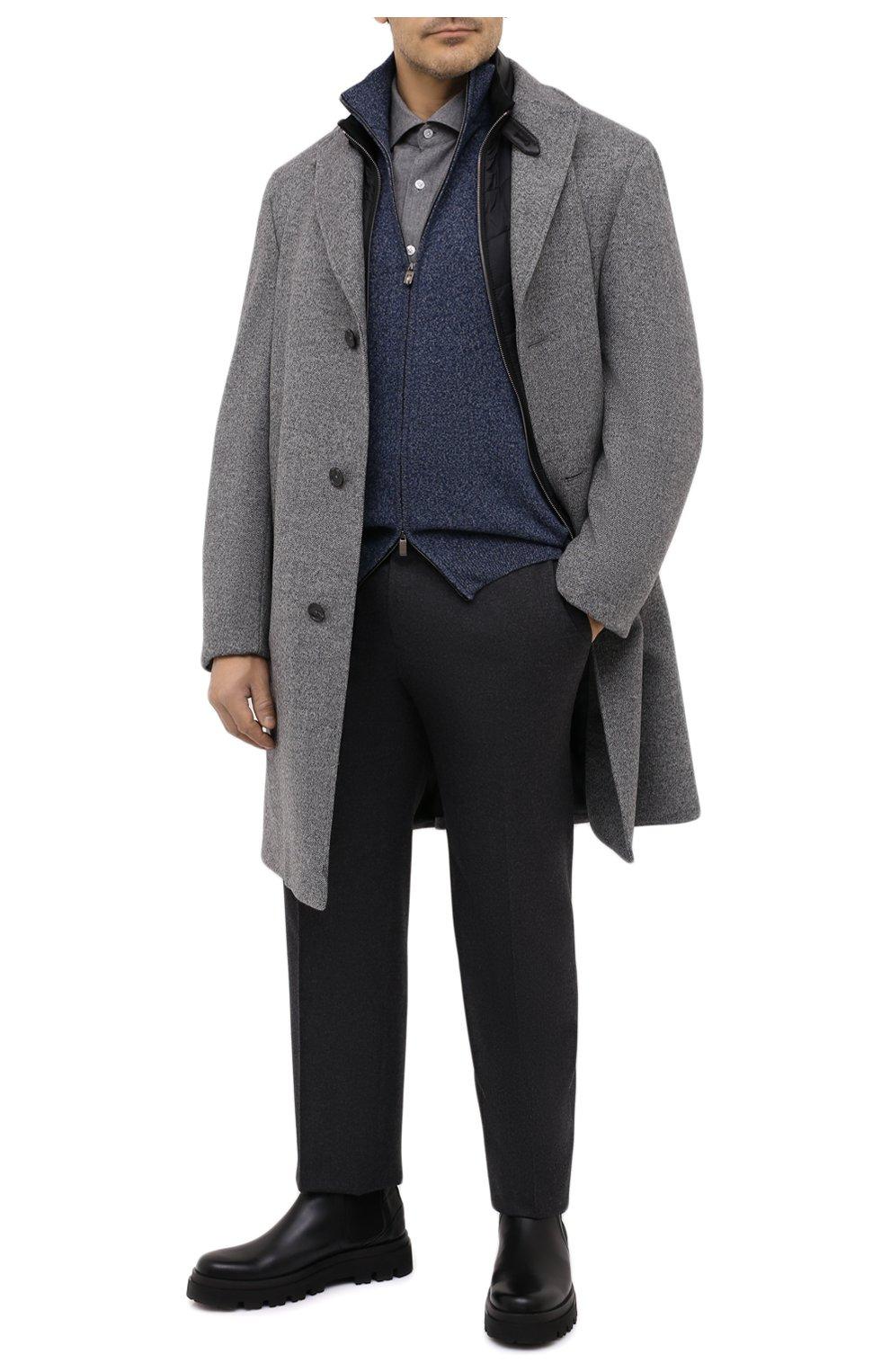 Мужская хлопковая рубашка SONRISA серого цвета, арт. IL7/L1080/47-51   Фото 2 (Big sizes: Big Sizes; Рукава: Длинные; Рубашки М: Regular Fit; Случай: Повседневный; Длина (для топов): Стандартные; Материал внешний: Хлопок; Стили: Кэжуэл)