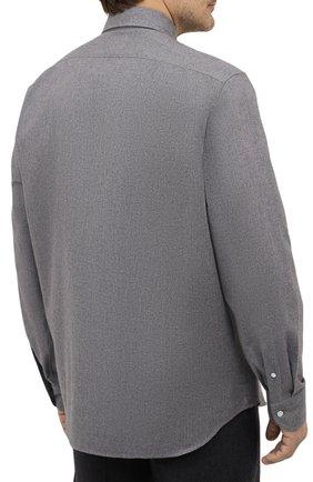 Мужская хлопковая рубашка SONRISA серого цвета, арт. IL7/L1080/47-51   Фото 4 (Big sizes: Big Sizes; Рукава: Длинные; Рубашки М: Regular Fit; Случай: Повседневный; Длина (для топов): Стандартные; Материал внешний: Хлопок; Стили: Кэжуэл)