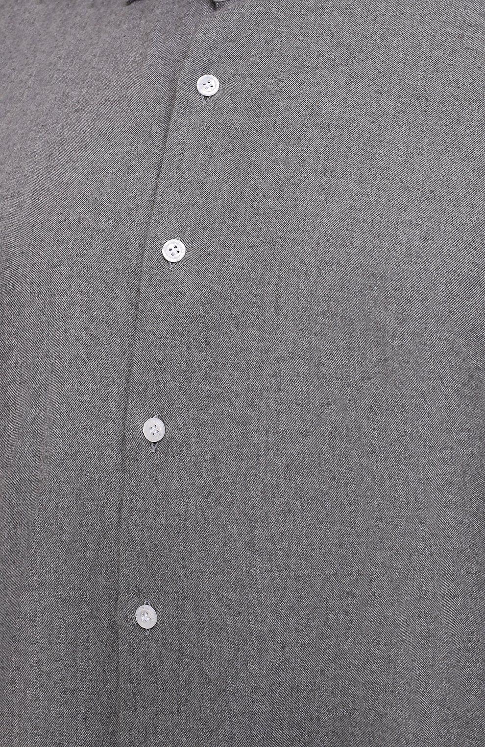 Мужская хлопковая рубашка SONRISA серого цвета, арт. IL7/L1080/47-51   Фото 5 (Big sizes: Big Sizes; Рукава: Длинные; Рубашки М: Regular Fit; Случай: Повседневный; Длина (для топов): Стандартные; Материал внешний: Хлопок; Стили: Кэжуэл)