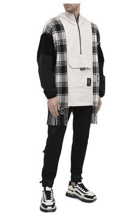 Мужская анорак из шерсти и хлопка DOLCE & GABBANA черно-белого цвета, арт. G9SY8T/G7WTQ   Фото 2