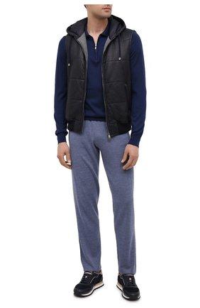 Мужской брюки из шерсти и кашемира FIORONI голубого цвета, арт. MK00T0F2 | Фото 2