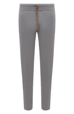 Мужской брюки из шерсти и кашемира FIORONI серого цвета, арт. MK00T0F2 | Фото 1