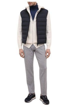 Мужской брюки из шерсти и кашемира FIORONI серого цвета, арт. MK00T0F2 | Фото 2
