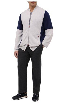 Мужская кашемировый кардиган KITON светло-серого цвета, арт. UK1200/4XL-8XL | Фото 2