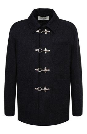 Мужской шерстяное пальто LANVIN темно-синего цвета, арт. RM-0U0107-4676-H20 | Фото 1