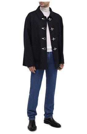 Мужской шерстяное пальто LANVIN темно-синего цвета, арт. RM-0U0107-4676-H20 | Фото 2