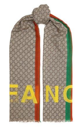 Шерстяной шарф «Fake/Not» | Фото №1