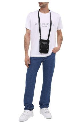 Мужская текстильная сумка antigona GIVENCHY черного цвета, арт. BKU00XK11B   Фото 2