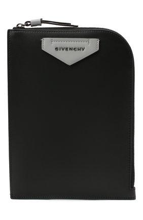 Мужская кожаная сумка antigona GIVENCHY черного цвета, арт. BKU00YK115 | Фото 1
