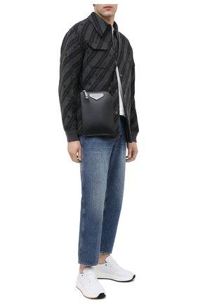 Мужская кожаная сумка antigona GIVENCHY черного цвета, арт. BKU00YK115 | Фото 2