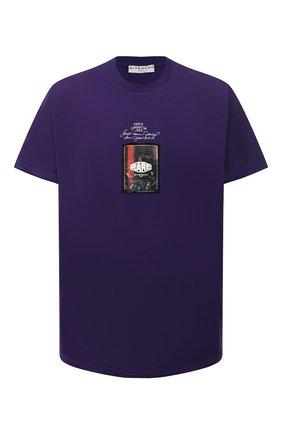 Мужская хлопковая футболка GIVENCHY фиолетового цвета, арт. BM70ZC3002 | Фото 1