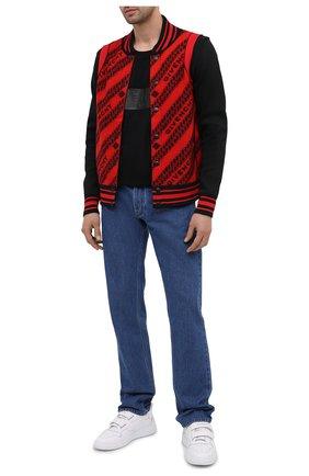 Мужская хлопковая футболка GIVENCHY черного цвета, арт. BM70ZR3002 | Фото 2