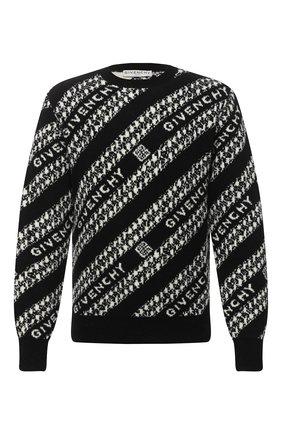 Мужской шерстяной свитер GIVENCHY черного цвета, арт. BM90EE4Y6Q | Фото 1