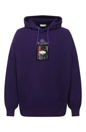 Мужской хлопковое худи GIVENCHY фиолетового цвета, арт. BMJ08N305B | Фото 1