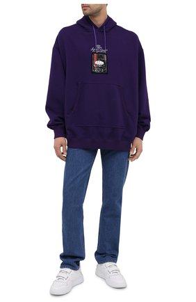 Мужской хлопковое худи GIVENCHY фиолетового цвета, арт. BMJ08N305B | Фото 2