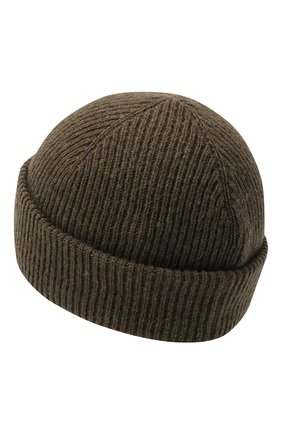 Мужская шерстяная шапка INVERNI хаки цвета, арт. 4997CM | Фото 2