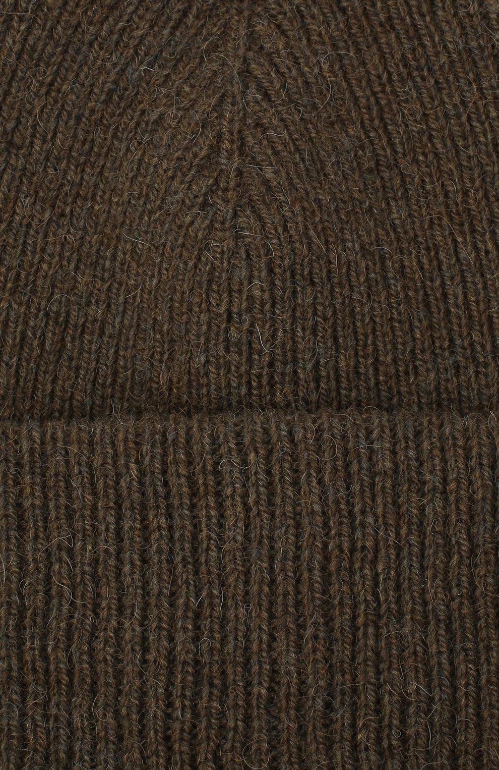Мужская шерстяная шапка INVERNI хаки цвета, арт. 4997CM | Фото 3