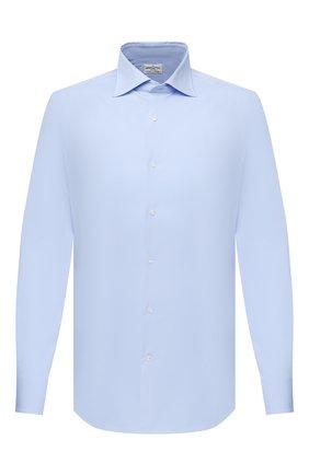 Мужская хлопковая сорочка BAGUTTA голубого цвета, арт. MIAMI_EL/00672 | Фото 1