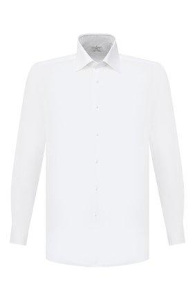 Мужская хлопковая сорочка BAGUTTA белого цвета, арт. 450_EBL/07773 | Фото 1