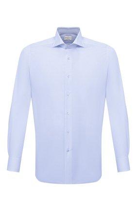 Мужская хлопковая сорочка BAGUTTA голубого цвета, арт. 450_EAL/02419 | Фото 1