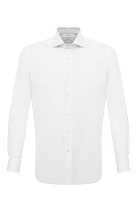 Мужская хлопковая сорочка BAGUTTA белого цвета, арт. 450_EAL/02419 | Фото 1