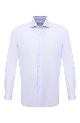 Мужская хлопковая сорочка BAGUTTA голубого цвета, арт. 386_EBL/00170 | Фото 1