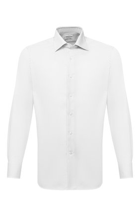 Мужская хлопковая сорочка BAGUTTA белого цвета, арт. 386_EBL/00170 | Фото 1